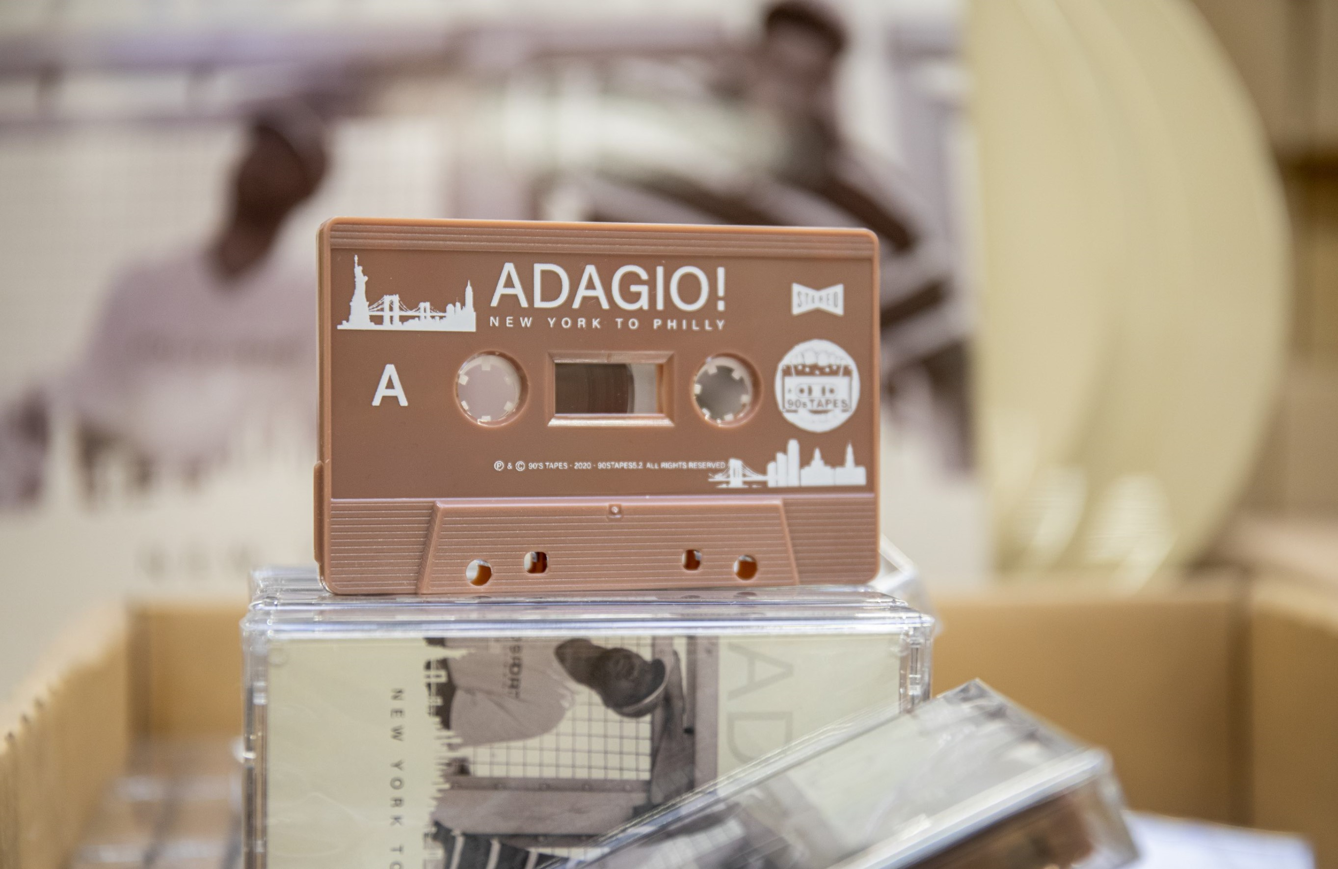 Adagio! Listen to 'New York to Philly' & Win a 90s Tapes Care Package (3LP, Cassette, CD & Shirt)