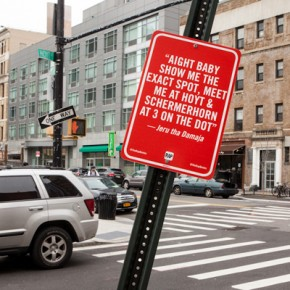 Art: 'Rap Quotes' street art project by Jay Shells