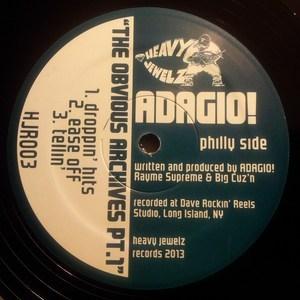 Vinyl: Adagio! – The Obvious Archives Pt.1 12″ EP