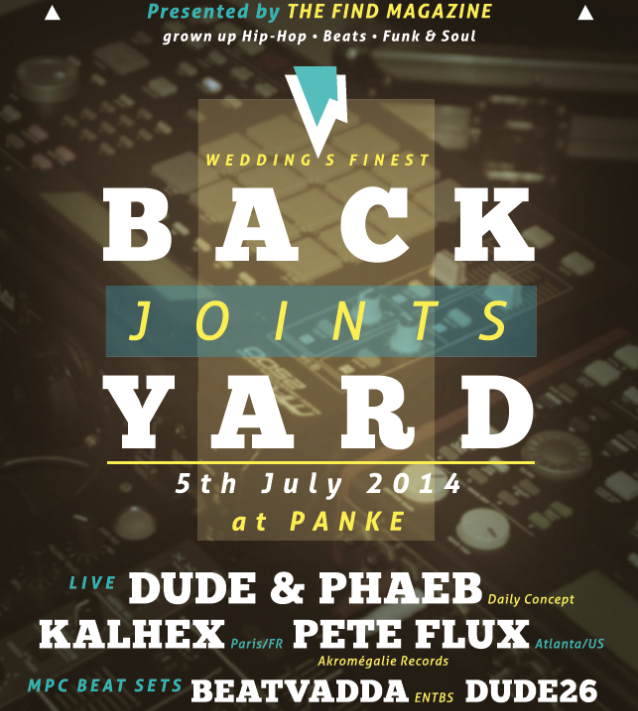 Event: The Find presents Backyard Joints (Summer Edition) in Berlin, July 5th