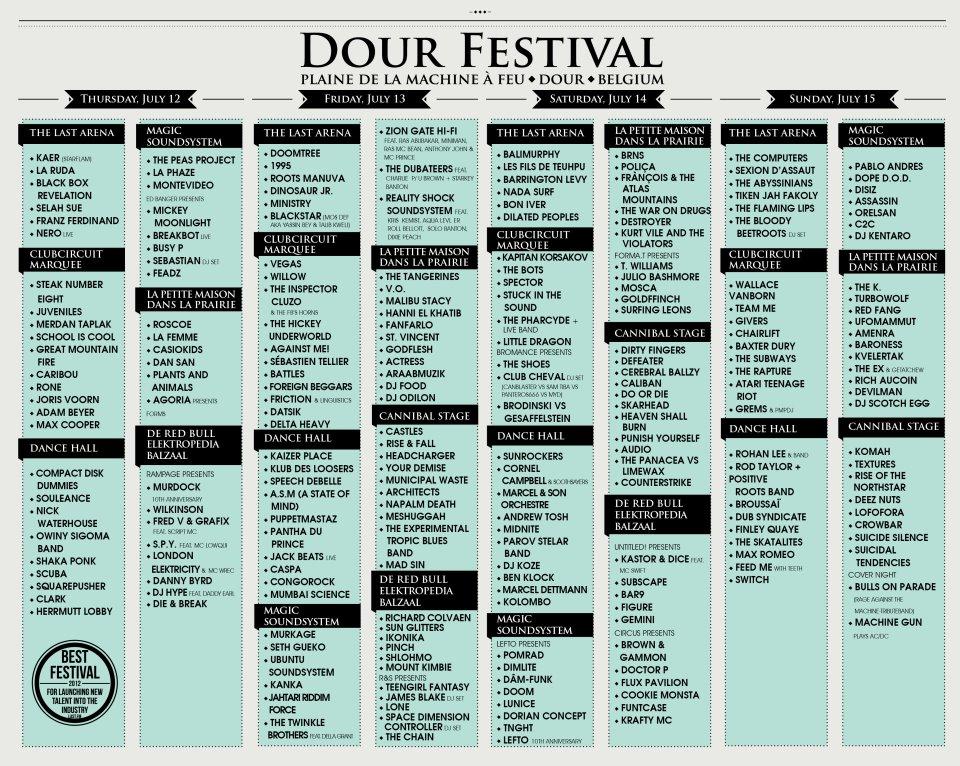 Contest Win 2 Passe Partout Tickets For Dour Festival