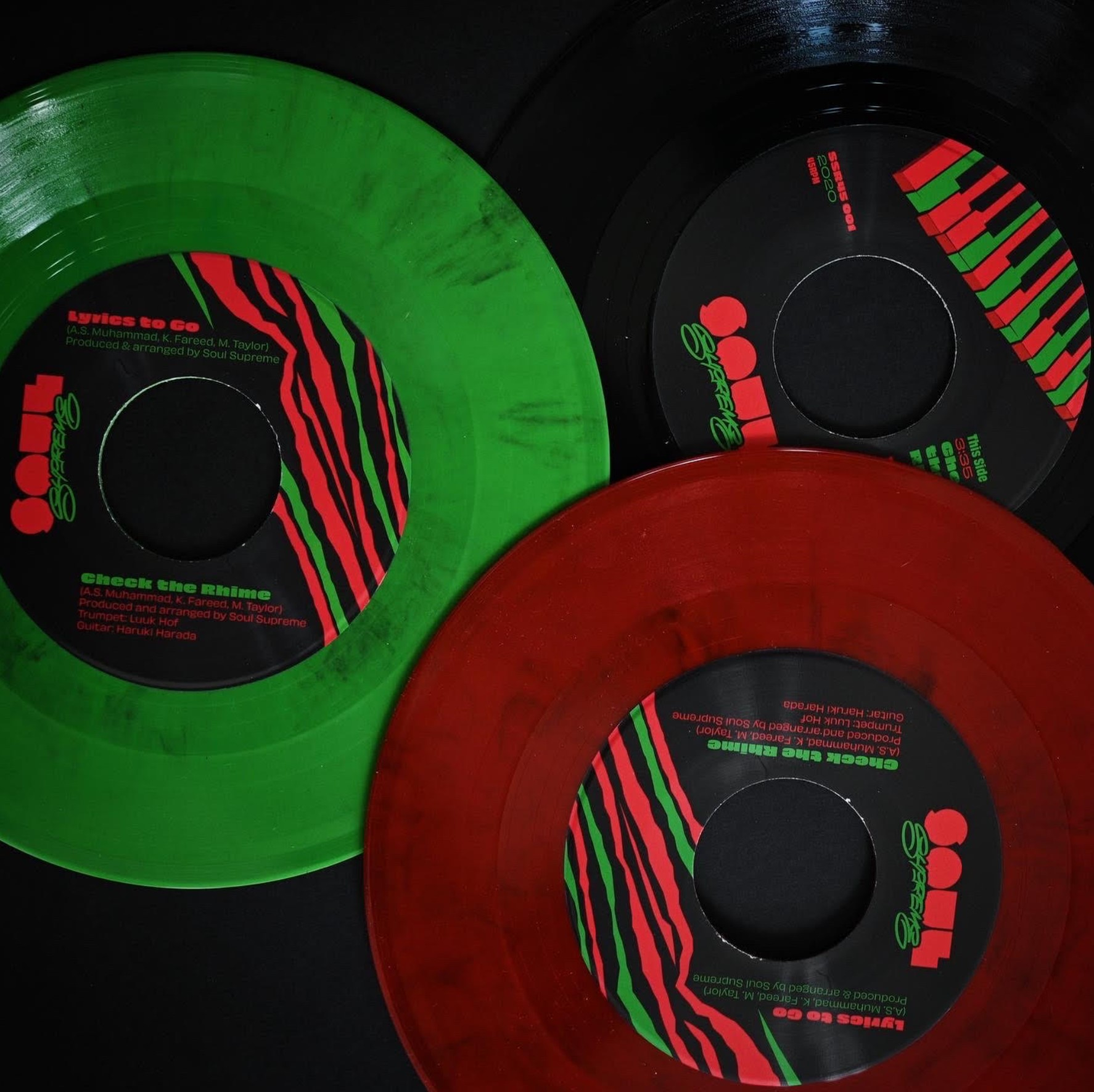 Soul Supreme's Tribute to A Tribe Called Quest ('Check The Rhime' b/w 'Lyrics To Go' 45)
