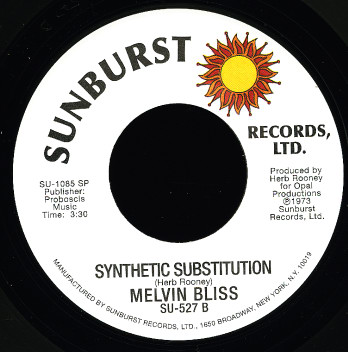 Grooves & Samples #13: Melvin Bliss – Synthetic Substitution (1973)